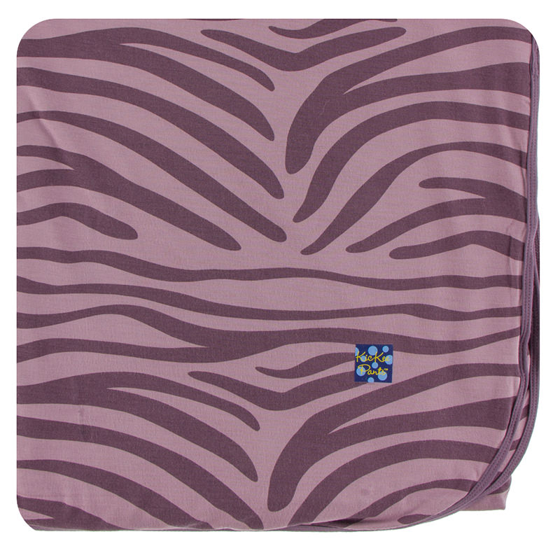 Large Throw Blanket In Elderberry Zebra Print Inspiration Zebra Print Electric Throw Blanket