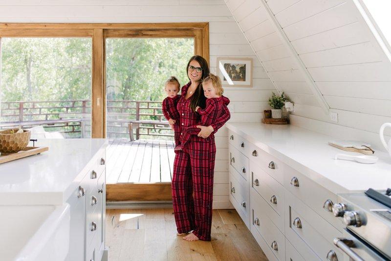 cc5b5dc4d738 Print Collared Pajama Set in Christmas Plaid