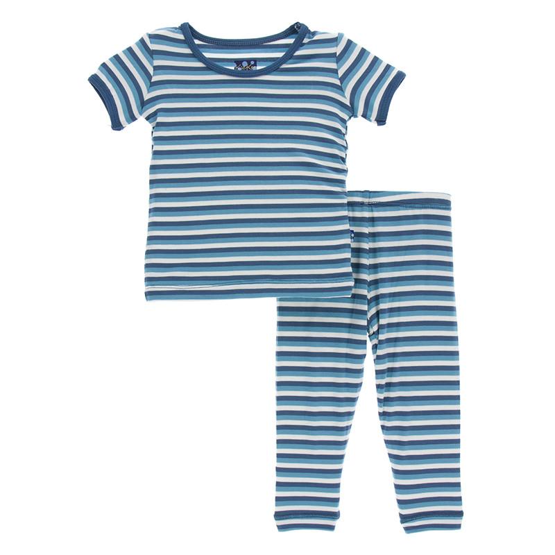 98c6ab6b96c9 Print Short Sleeve Pajama Set in Confetti Anniversary Stripe