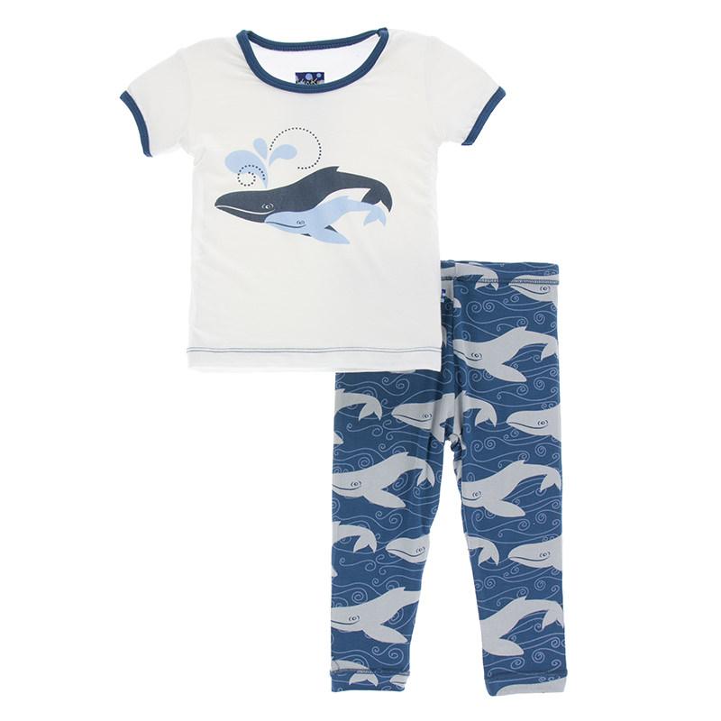 eb7b6c937a Print Short Sleeve Pajama Set in Twilight Whale
