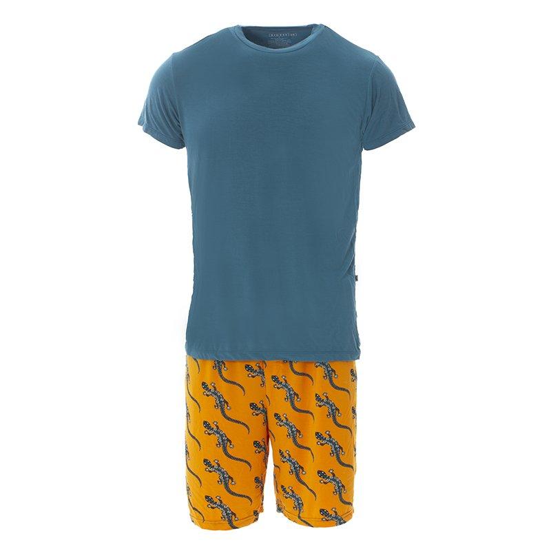 Apricot Bead Lizard - M Kickee Pants Mens Print Boxer Short