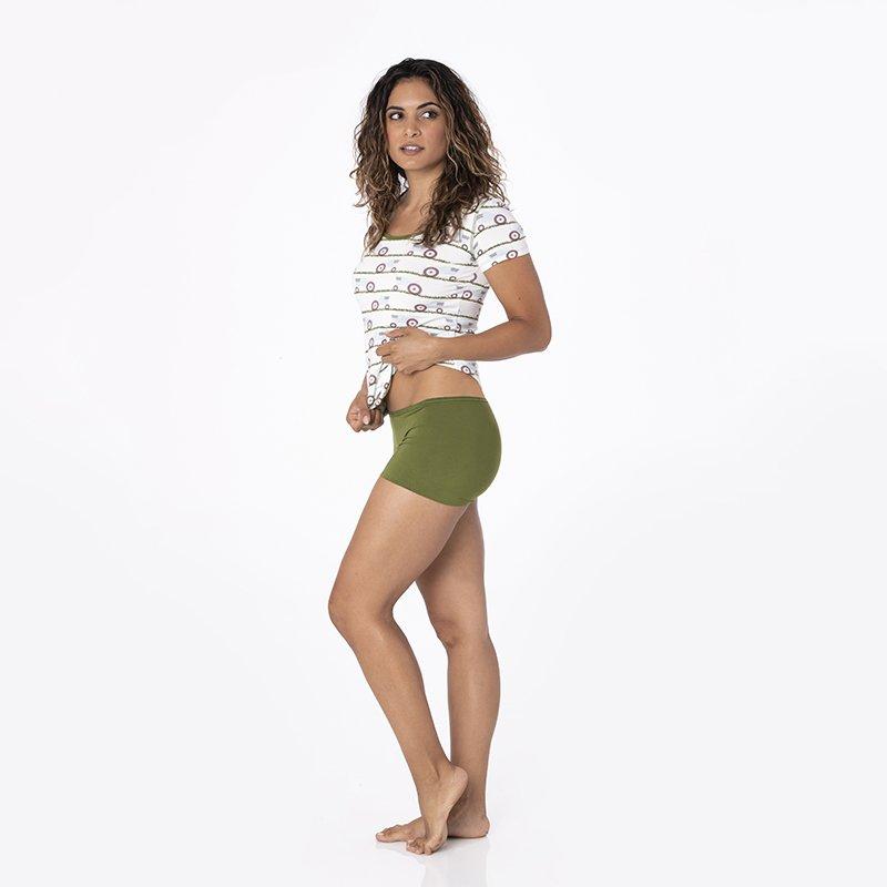 075fcb74457d Solid Women's Boy Short Underwear in Pesto