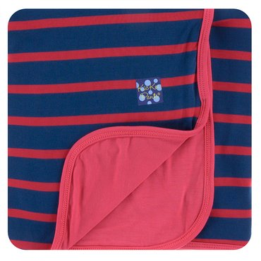 Print Stroller Blanket in Everyday Heroes Navy Stripe