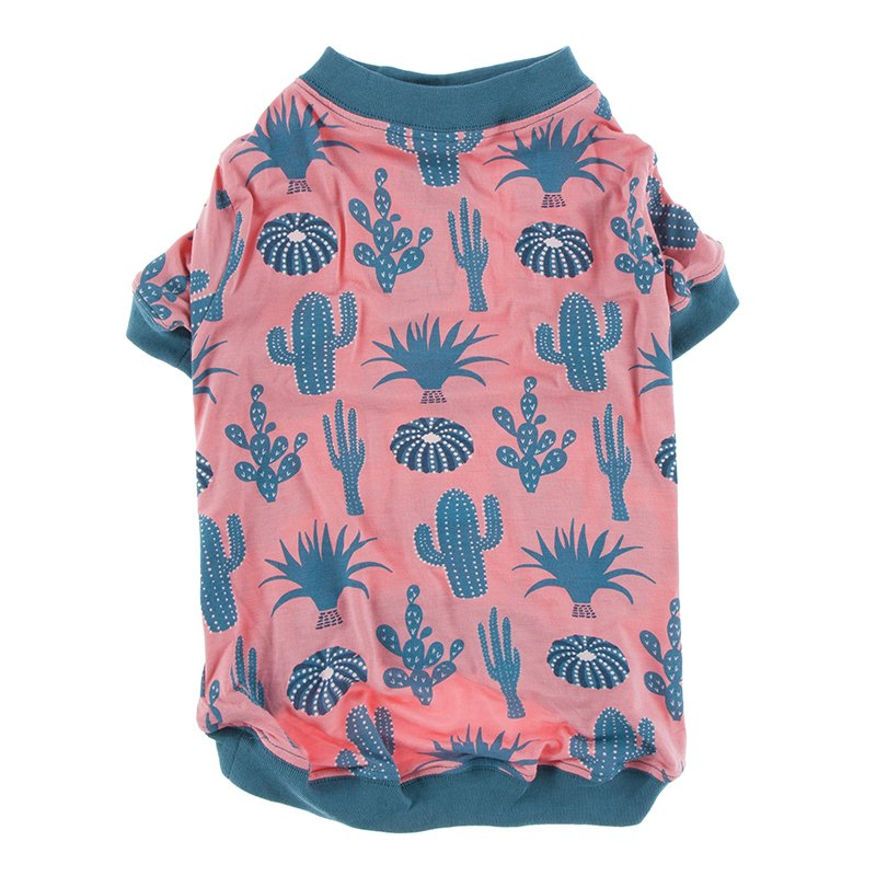 Print Dog Tee in Strawberry Cactus