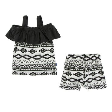 Girl Underwear Set Oasis Hibiscus and Natural Mayan Pattern - XL-12//14