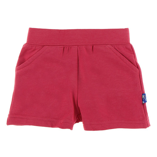 Fleece Shorts in Flag Red