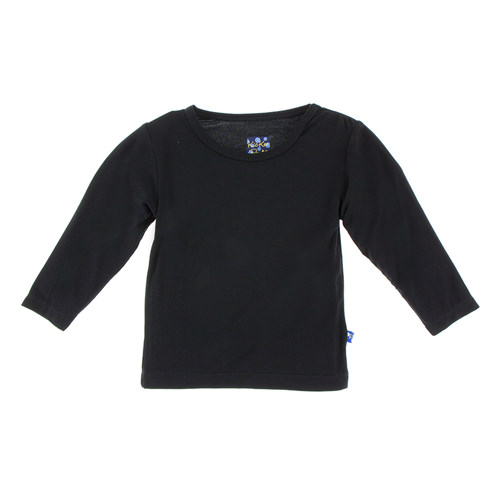 Basic Long Sleeve Tee in Midnight