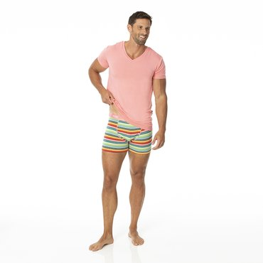 Men's Boxer Brief in Cancun Strawberry Stripe