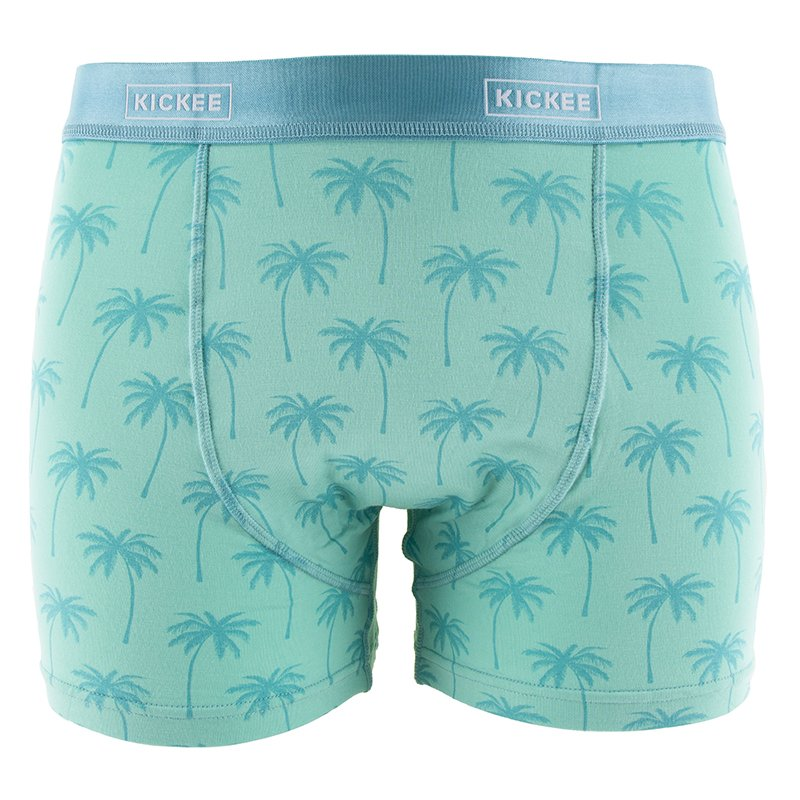 Men's Boxer Brief in Glass Palm Trees