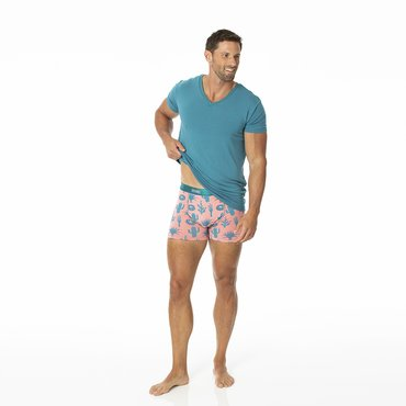Men's Boxer Brief in Strawberry Cactus