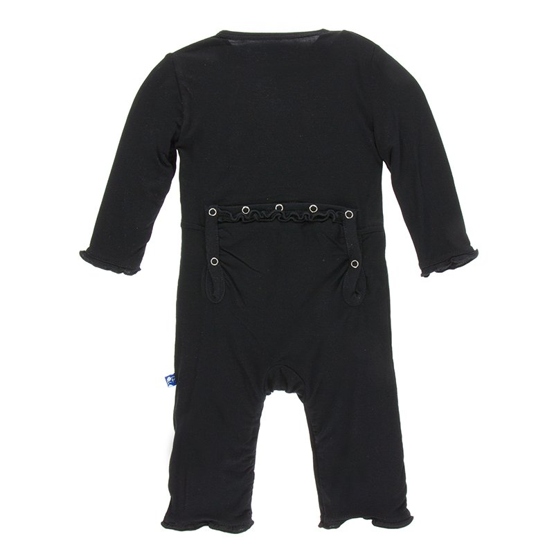 Basic Muffin Ruffle Coverall in Midnight