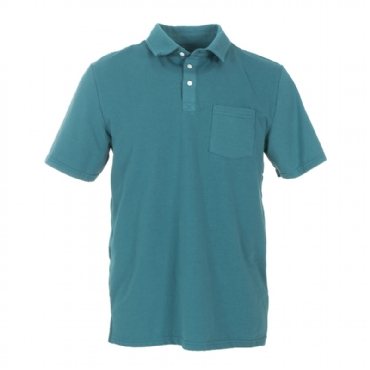 Men's Solid Short Sleeve Performance Jersey Polo in Seagrass