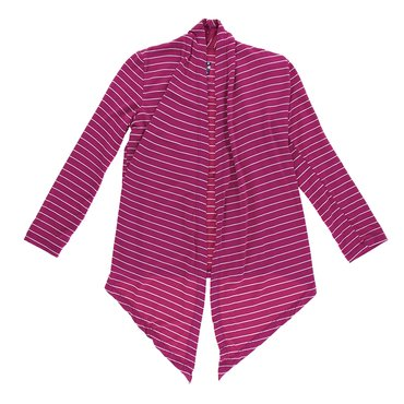 Print Open Front Cardigan in Tokyo Dragonfruit Stripe