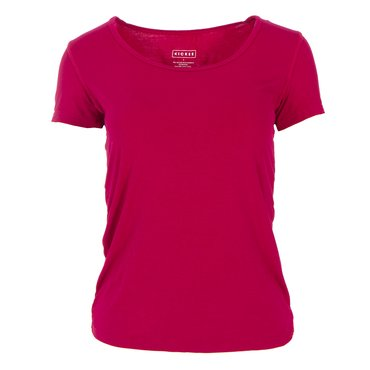 Solid Short Sleeve Scoop Neck Tee in Rhododendron