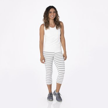 Print Women's Performance 3/4 Legging in Tuscan Afternoon Stripe