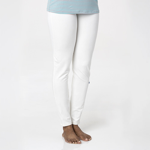 Solid Women's Luxe Leggings in Natural