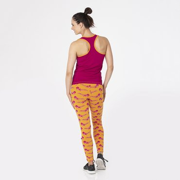Print Women's Luxe Leggings in Apricot Octopus