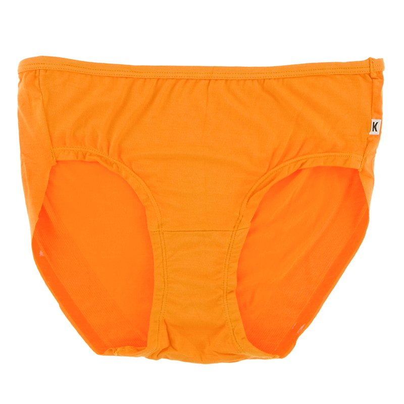 Solid Women's Classic Brief in Apricot