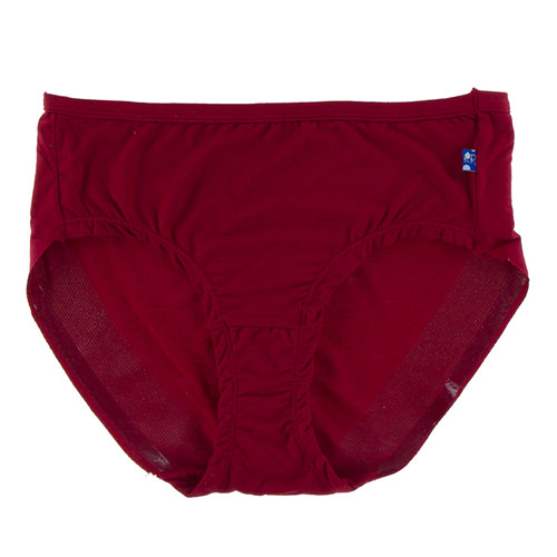 Solid Women's Classic Brief in Candy Apple