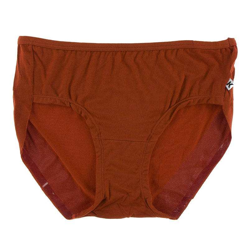 Solid Women's Classic Brief in Red Tea