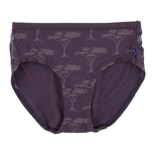 Print Women's Classic Brief in Fig Acacia Trees