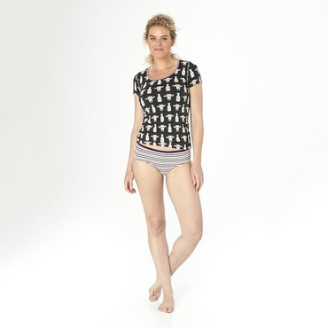 Print Women's Classic Brief in Tuscan Vineyard Stripe