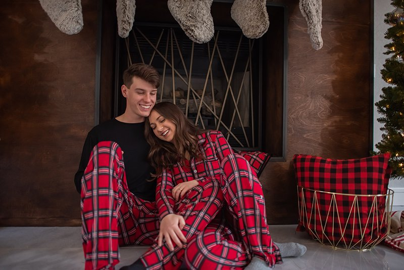 Men's Long Sleeve Pajama Set in Christmas Plaid 2019