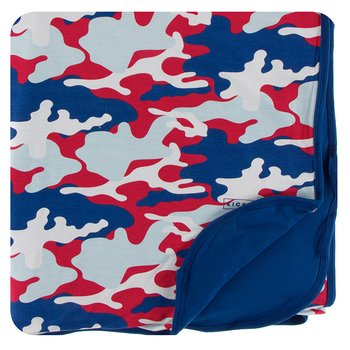 Double Layer Throw Blanket in Flag Red Military
