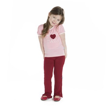 Holiday Short Sleeve Applique Puff Tee in Lotus I Love Dad
