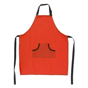 Solid Apron in Poppy with Zebra