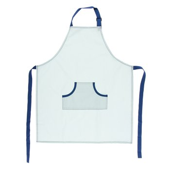 Solid Apron in Spring Sky with Navy