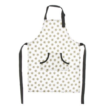 Print Apron in Natural Star Anise