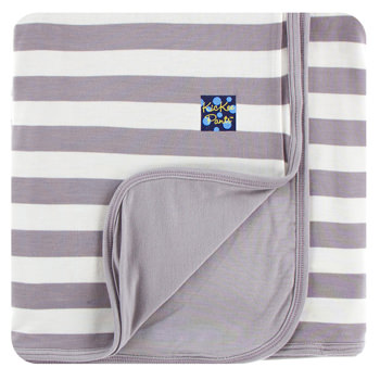 Essentials Print Stroller Blanket in Feather Contrast Stripe