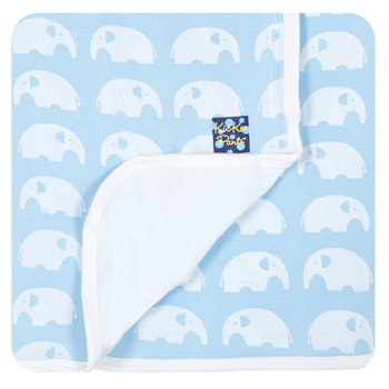 Essentials Print Stroller Blanket in Pond Elephant