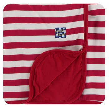 Print Stroller Blanket in Candy Cane Stripe 2019