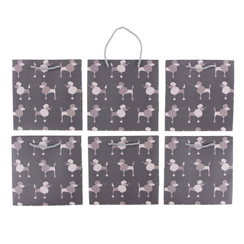 Gift Bag (Pack of 6) in Cobblestone Poodle
