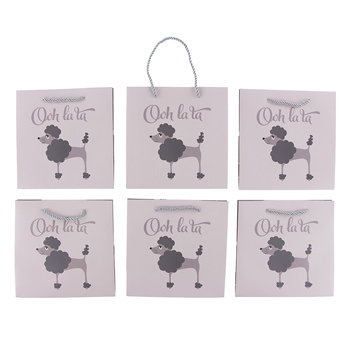 Gift Bag (Pack of 6) in Poppy the Poodle