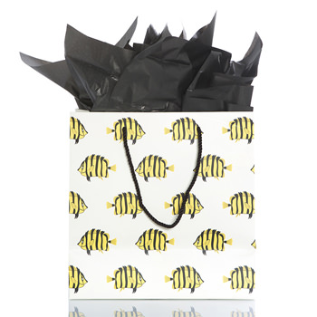 Gift Bag in Natural Butterflyfish