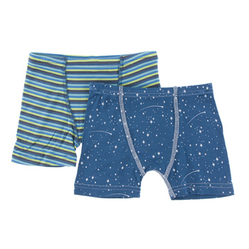 Boxer Briefs (Set of 2) in Boy Anniversary Stripe & Twilight Starry Sky