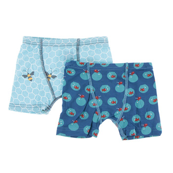 Boxer Briefs (Set of 2) in Glacier Honeycomb & Twilight Fishbowl