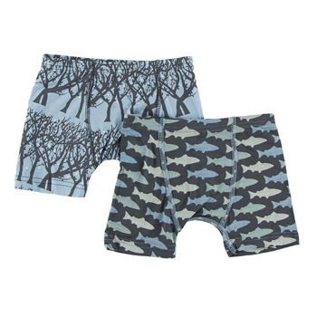 Boxer Briefs (Set of 2) in Pond Fireflies & Stone Trout