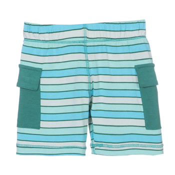 Print Cargo Short in Boy Tropical Stripe