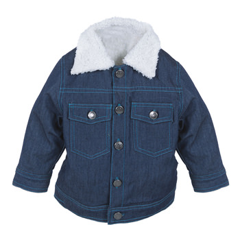 Boy Denim Jacket with Sherpa Lining with Bay Thread