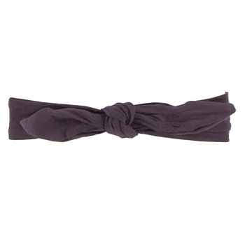 Solid Bow Headband in Fig