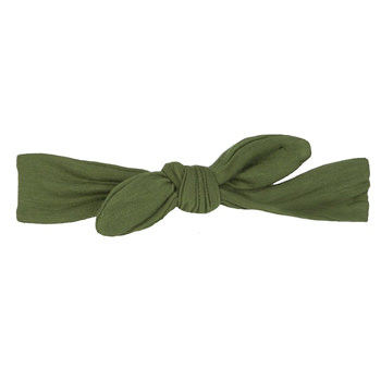 Basic Bow Headband in Moss