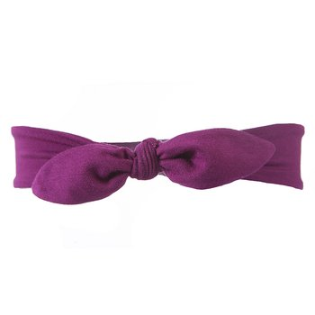 Basic Bow Headband in Orchid