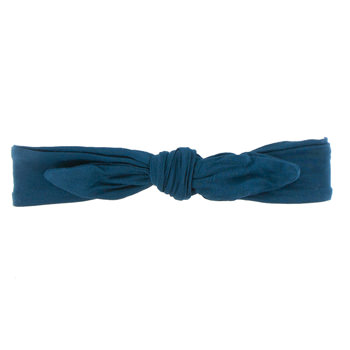 Solid Bow Headband in Peacock