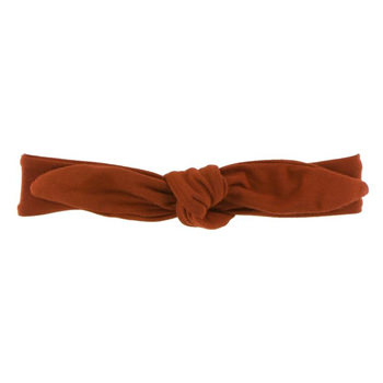 Solid Bow Headband in Red Tea