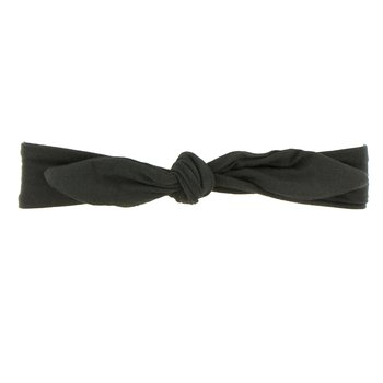 Solid Bow Headband in Zebra