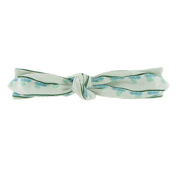 Print Bow Headband in Aloe Ants